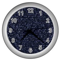 Handwriting Wall Clocks (Silver)