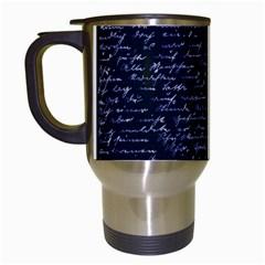 Handwriting Travel Mugs (White)