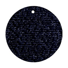 Handwriting Round Ornament (Two Sides)