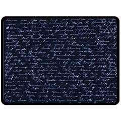 Handwriting Fleece Blanket (Large)