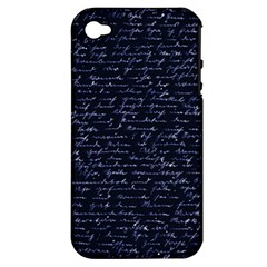 Handwriting Apple iPhone 4/4S Hardshell Case (PC+Silicone)