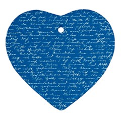 Handwriting Heart Ornament (Two Sides)
