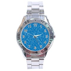 Handwriting Stainless Steel Analogue Watch