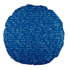 Handwriting Large 18  Premium Round Cushions
