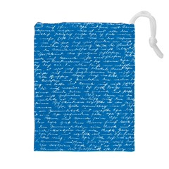 Handwriting Drawstring Pouches (Extra Large)