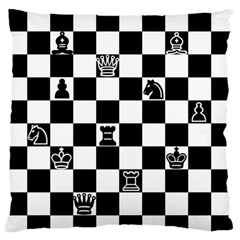 Chess Large Flano Cushion Case (Two Sides)