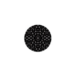 Dark Ditsy Floral Pattern 1  Mini Buttons