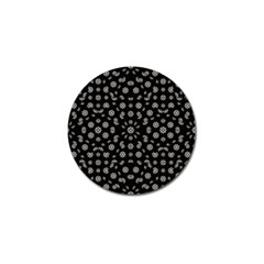 Dark Ditsy Floral Pattern Golf Ball Marker (10 pack)