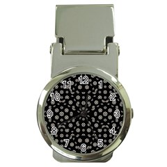 Dark Ditsy Floral Pattern Money Clip Watches