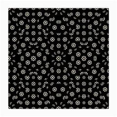 Dark Ditsy Floral Pattern Medium Glasses Cloth