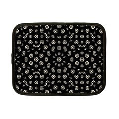 Dark Ditsy Floral Pattern Netbook Case (Small)
