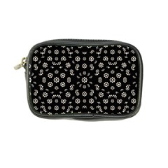 Dark Ditsy Floral Pattern Coin Purse