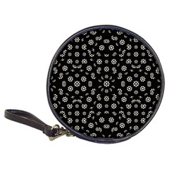 Dark Ditsy Floral Pattern Classic 20-CD Wallets