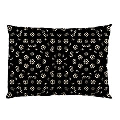 Dark Ditsy Floral Pattern Pillow Case (Two Sides)