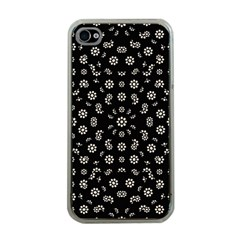 Dark Ditsy Floral Pattern Apple iPhone 4 Case (Clear)