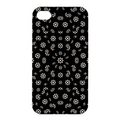 Dark Ditsy Floral Pattern Apple iPhone 4/4S Premium Hardshell Case