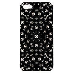 Dark Ditsy Floral Pattern Apple iPhone 5 Hardshell Case