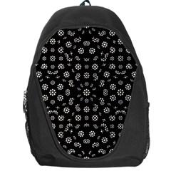 Dark Ditsy Floral Pattern Backpack Bag