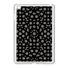 Dark Ditsy Floral Pattern Apple iPad Mini Case (White)