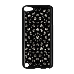Dark Ditsy Floral Pattern Apple iPod Touch 5 Case (Black)