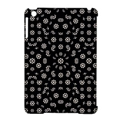 Dark Ditsy Floral Pattern Apple iPad Mini Hardshell Case (Compatible with Smart Cover)