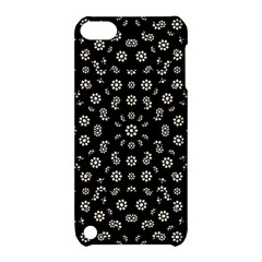 Dark Ditsy Floral Pattern Apple iPod Touch 5 Hardshell Case with Stand