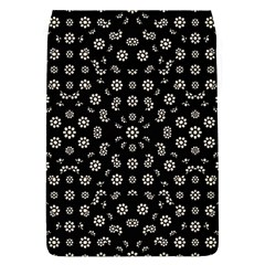 Dark Ditsy Floral Pattern Flap Covers (L)