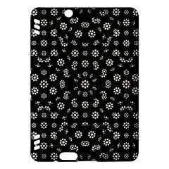 Dark Ditsy Floral Pattern Kindle Fire HDX Hardshell Case