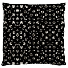 Dark Ditsy Floral Pattern Standard Flano Cushion Case (Two Sides)