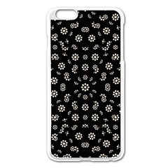 Dark Ditsy Floral Pattern Apple iPhone 6 Plus/6S Plus Enamel White Case