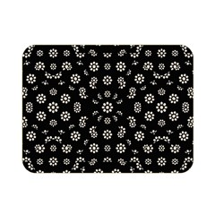 Dark Ditsy Floral Pattern Double Sided Flano Blanket (Mini)