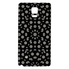 Dark Ditsy Floral Pattern Galaxy Note 4 Back Case