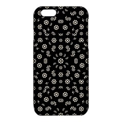 Dark Ditsy Floral Pattern iPhone 6/6S TPU Case