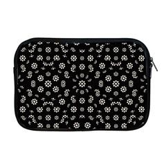 Dark Ditsy Floral Pattern Apple MacBook Pro 17  Zipper Case