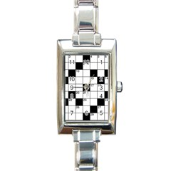 Crosswords  Rectangle Italian Charm Watch