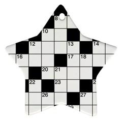 Crosswords  Ornament (Star)