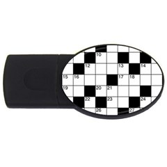Crosswords  Usb Flash Drive Oval (4 Gb)