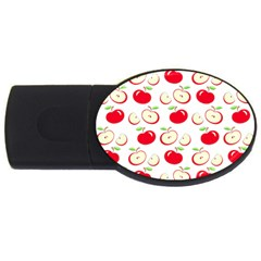 Apple pattern USB Flash Drive Oval (2 GB)