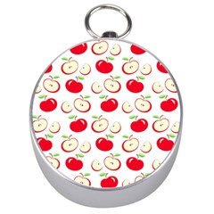 Apple pattern Silver Compasses