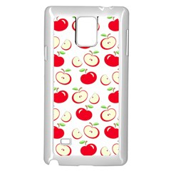 Apple pattern Samsung Galaxy Note 4 Case (White)