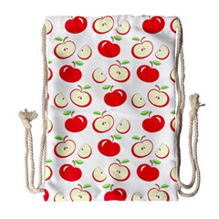 Apple pattern Drawstring Bag (Large)