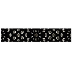 Dark Ditsy Floral Pattern Flano Scarf (Large)