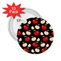 Apple pattern 2.25  Buttons (10 pack)