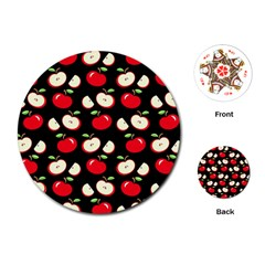 Apple pattern Playing Cards (Round)