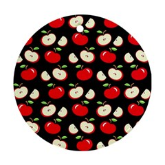 Apple pattern Round Ornament (Two Sides)