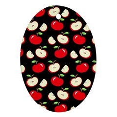 Apple pattern Oval Ornament (Two Sides)