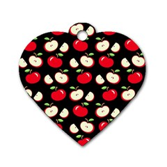 Apple pattern Dog Tag Heart (One Side)