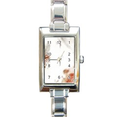 Spotted pattern Rectangle Italian Charm Watch