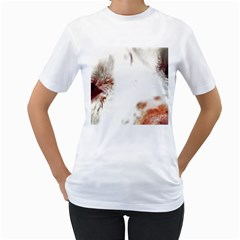 Spotted pattern Women s T-Shirt (White) (Two Sided)