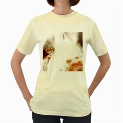 Spotted pattern Women s Yellow T-Shirt